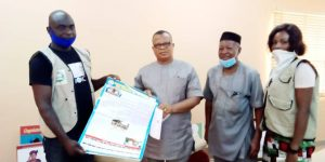DIG Team with the Hon Commissioner for Health Ebonyi State during Advocacy